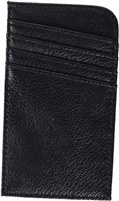 Black RFID Wallet: ScanSafe Concierge Card Case with RFID Protection,