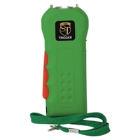 Trigger Stun Gun w/Flashlight w Disable Pin Green