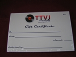 Gift Certificate from TTVJAudio!