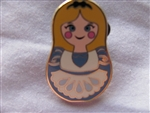 Disney Trading Pin 101920: Nesting Dolls Mini Pin Pack - Alice Only