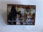 Disney Trading Pin 102100: Disney Star Wars Darth Vader on a Carousel Pin
