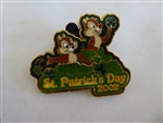Disney Trading Pin 10548 DLR St. Patrick's Day 2002 - Chip & Dale