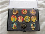 Disney Trading Pin 1060 Disney Channel - 10th Anniversary Boxed Set (10 Pins)