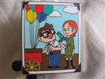 Disney Trading Pin 106870: Carl and Ellie as young marrieds from Booster set