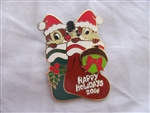 Disney Trading Pin  106951 Happy Holidays 2014 - Stockings Boxed Set - Chip & Dale Completer ONLY