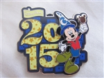 Disney Trading Pin 107338: Disney Parks - 2015 Dated Pin - Mickey With Sorcerer Hat & Ice Cream Bar