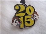 Disney Trading Pin 107583: Disney Parks - 2015 Dated Booster Set - Chip & Dale only