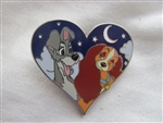 Disney Trading Pin  107736: Lady and the Tramp In Starry Heart