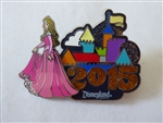Disney Trading Pin 107856 DLR - 2015 Dated Logo Pin - Aurora