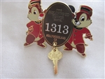 Disney Trading Pin 108062: Disney 2015 Tower of Terror Room 1313 featuring Chip 'N Dale