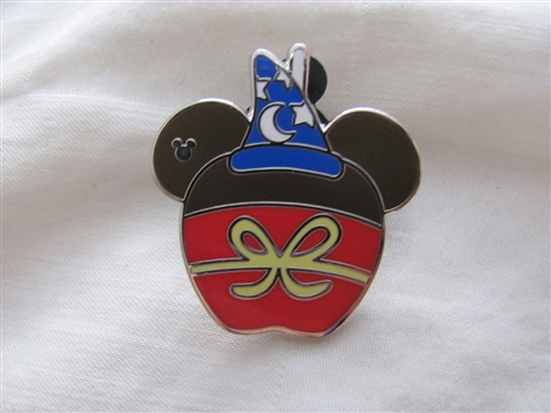 Disney Pin Trading Sorcerer Mickey Hidden Mickey Candy Apple Food Fantasia Mouse