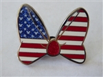 Disney Trading Pin 109454 2015 Minnie Mouse Bow - USA American Flag