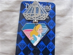 Disney Trading Pin 109873 DLR - Diamond Celebration - 60th - Annual Passholder Alice In Wonderland