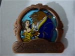 Disney Trading Pin 111478 September 2015 Park Pack Beauty and the Beast Copper Frame / Blue Background