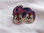 Disney Trading Pin 111943 DLR - 2015 Hidden Mickey Mardi Gras - Chip and Dale