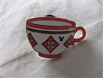 Disney Trading Pin 111946 DLR - 2015 Hidden Mickey Mad Tea Party Cups - Red