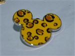 Disney Trading Pin 112470 Mickey Mouse Head Icon - Animal Print