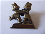 Disney Trading Pin  112578 WDW - Annual Passholder – Gold Statue Chip and Dale