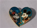 Disney Trading Pins 112599 Minnie and Mickey Two Piece Heart