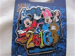 Disney Trading Pin 112807 WDW - Mickey and Minnie 2016 Dated