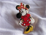 Disney Trading Pin  1129: Minnie, Standing with a Red and White Polka-Dotted Dress