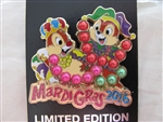 Disney Trading Pin 113052 Mardi Gras 2016 - Chip and Dale