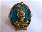 Disney Trading Pin 113600 Birthstone - March 2016 - Cinderella