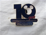 Disney Trading Pin 11395 Disney's Vacation Club 10 Year Anniversary