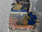 Disney Trading Pin 114693 DSSH - Pixar Calendar - Surprise Release - April - Finding Nemo