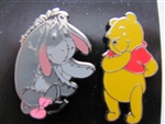 Disney Trading Pin 114809 Pooh and Eeyore 2 pin Set