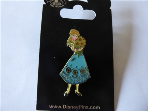 Summer Anna Frozen Fever Sunflowers Disney Pin 115454