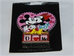 Disney Trading Pin  115927 Mickey and Minnie Heart: I Heart U Slider
