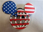 Disney Trading Pins 116438 American Flag Mickey Lattice Icon