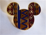 Disney Trading  116509 Mickey Icon Pin - African Pattern