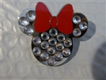 Disney Trading Pins 117181 Minnie Mouse - Jeweled Icon with Red Bow