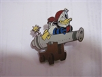 Disney Trading Pin  117809 Pirates of the Caribbean Cute Characters Booster - Donald Only