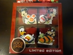 Disney Trading Pin 117880 WDW - 2016 Epcot® International Food & Wine Festival – Character Sushi 4 Pin Boxed Set - Mickey only