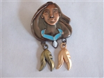 Disney Trading Pins 118056 Bronze Pocahontas Head with Feather Dangles