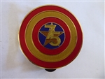 Disney Trading Pins 118145 DS - Captain America 75th Anniversary - Shield - Golden 75