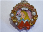 Disney Trading Pin 118868 WDW - Holiday Wreaths Resort Collection 2016 - Grand Floridian - Alice
