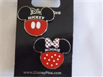 Mickey And Minnie Icons 2 Pin Set