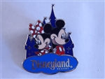 Disney Trading Pin 119347 DLR - Mickey & Minnie Mouse with Castle - Walt Disney Travel Company