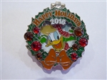 Disney Trading Pin 119464 WDW - Holiday Wreaths Resort Collection 2016 - Wilderness Lodge - Donald