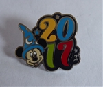 Disney Trading Pin 119499 2017 Dated Character Booster - Sorcerer Mickey Only