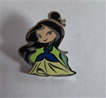 Disney Trading Pin 119519 Cute Stylized Princesses Booster Set - Mulan Only