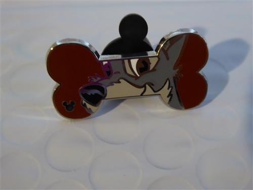 Disney Lady and The Tramp Hidden Mickey Dog Bones Tramp Pin