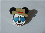 Disney Trading Pin 121318 Mickey Icon - Panama Hat and Sunglasses