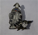 Disney Trading Pin 123898 R2-D2 and Porg Swivel Pin