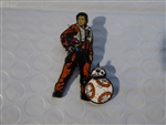 Disney Trading Pins   124077 Star Wars: The Last Jedi - Poe Dameron and BB-8 Pin