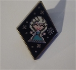 Disney Trading Pin 125538 Frozen Diamond Cross Stitch Mystery Set - Elsa Only